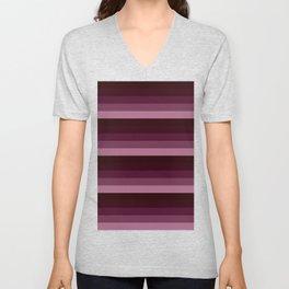 Burgundy stripes Unisex V-Neck