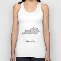 kentucky Tank Tops featuring Kentucky map by David Zydd