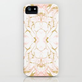 Pink mosaic marble iPhone Case