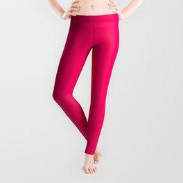 Bright Fluorescent Pink Neon Leggings