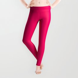 Bright Fluorescent Pink Neon Leggings