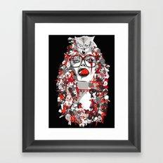 Wolfgirl Framed Art Print