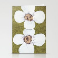 men Stationery Cards featuring Flower Men by Jason Ratliff