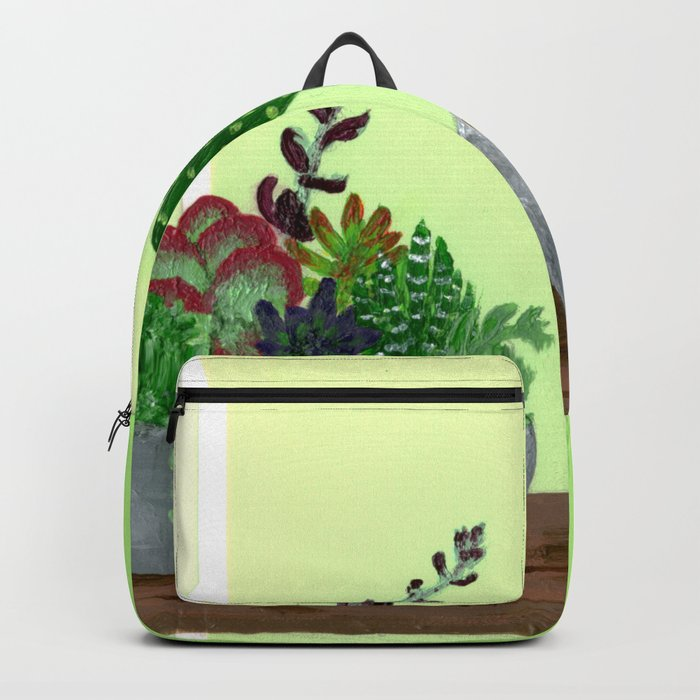 Cacti and Succulents on Greens Backpack