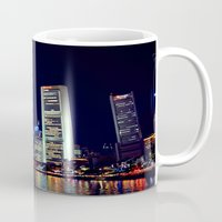 singapore Mugs featuring Singapore Skyline by Mark Bagshaw Photography