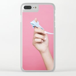 Chewed gum Clear iPhone Case