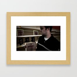 Searching for a Mouth Framed Art Print