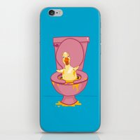 toilet iPhone & iPod Skins featuring Toilet Duckling by Chris Piascik