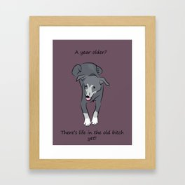 Birthday bitch Framed Art Print