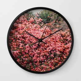 Malibu Bougainvillea Wall Clock