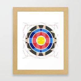 Fractured Target Framed Art Print