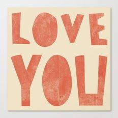 Love You Canvas Print
