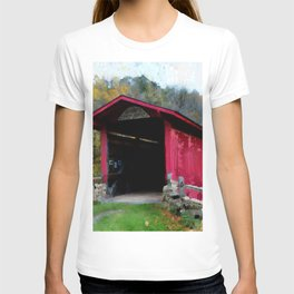 KISSING COVERED BRIDGE T-shirt