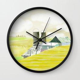 Spring Field Wall Clock