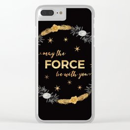 May the Force Be With You Clear iPhone Case