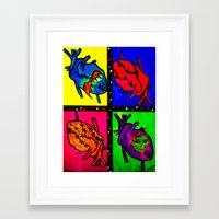 anatomical heart Framed Art Prints featuring Anatomical Heart  by Bones&guts