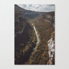 Ebro river Canvas Print