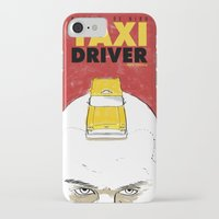 taxi driver iPhone & iPod Cases featuring Taxi Driver by Matthew Bartlett