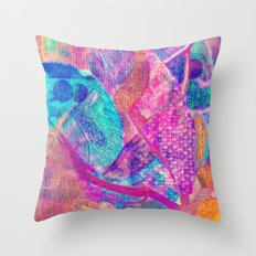 Floral patchwork(13). Throw Pillow