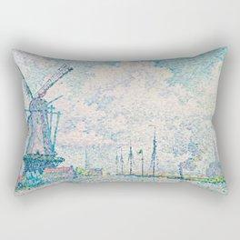 Paul Signac - Canal of Overschie Rectangular Pillow