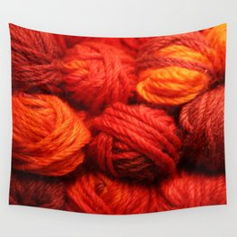 Many Balls of Wool in Shades of Red #society6 #decor #buyart Wall Tapestry