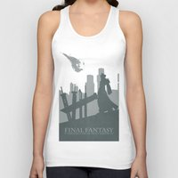 final fantasy Tank Tops featuring Final Fantasy VII by [SilenceCorp.]