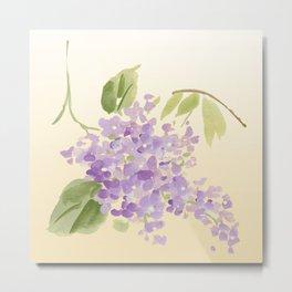 floral lilac Metal Print