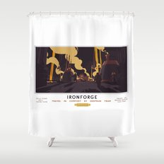 Ironforge Classic Rail Poster Shower Curtain