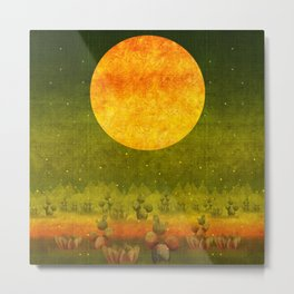 """Green Lemon Sunset"" Metal Print"
