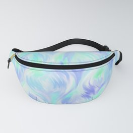 Preppy Blue Watercolor Abstract Ripples Fanny Pack