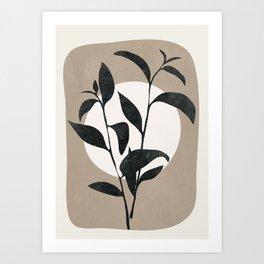 Abstract Minimal Plant Art Print