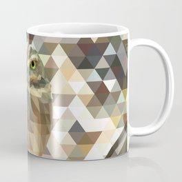 Burrowing Owl - Low Poly Technique Coffee Mug