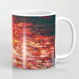 Red Leaves In Water Coffee Mug