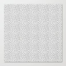 Little Birdies Pattern Canvas Print