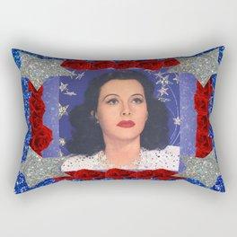 Ziegfeld Girl - Hedy Lamarr - Screen Siren  Rectangular Pillow