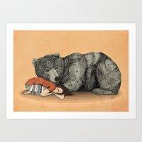 shipping Art Prints featuring Huntress by Sandra Dieckmann