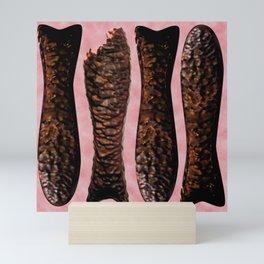 Chocolate Fish Nom by Squibble Design Mini Art Print