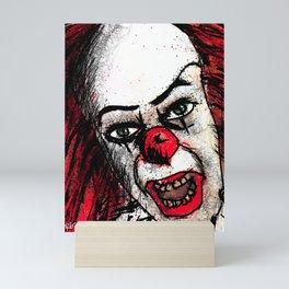 Scary Clown Mini Art Print