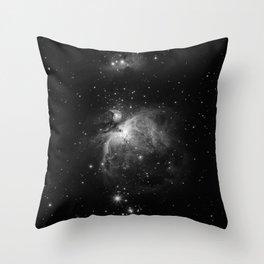 Galaxy (Black and White) Throw Pillow