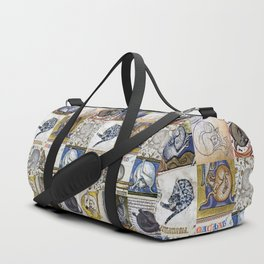 Medieval Cats Licking Their Butts Duffle Bag