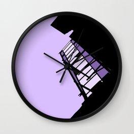 New York Fire Escape - Purple Wall Clock