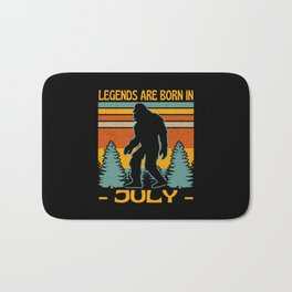 Legends Are Born In July Bigfoot Bath Mat
