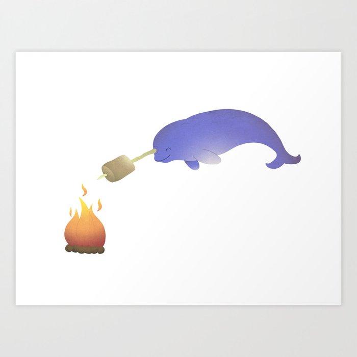 Toasting Marshmallows Kunstdrucke