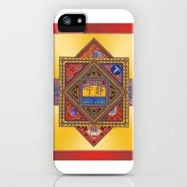 Meditation on Serenity (gradient gold) iPhone Case