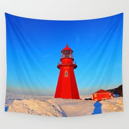 Lighthouse  and Frozen Sea Wall Tapestry