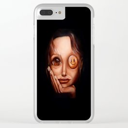 """""""Entertain me twice"""" Clear iPhone Case"""