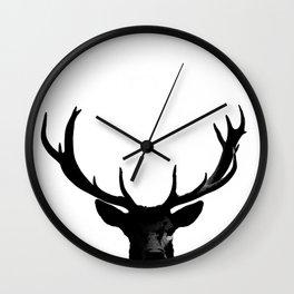 Black Deer Silhouette A273 Wall Clock