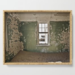 Abandoned house - Landscape Photography #Society6 Serving Tray
