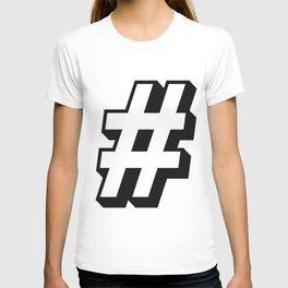 Big Hashtag T-shirt