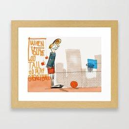 Too Tall Framed Art Print